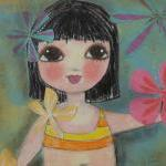 Hula Baby 5x7 ART CARD PRINT