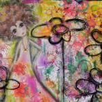 Soul Flower ORIGINAL mixed media cr..