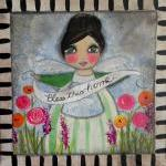 Bless this Home 12x12 angel in flow..