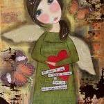 Lincoln's Angel 5x7 ART card