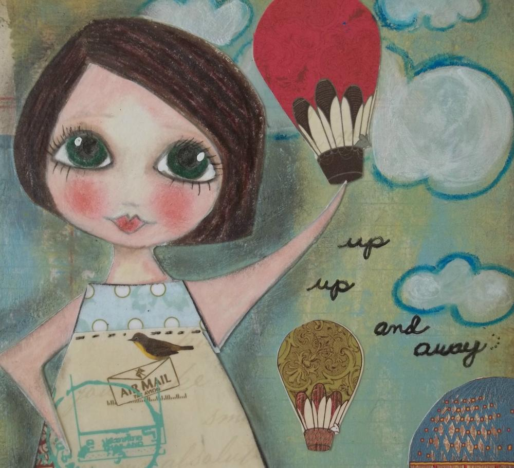 Up Up and AWAY 5x7 ART CARD Print