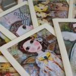 Angel Fairy 5x7 art print card Blon..